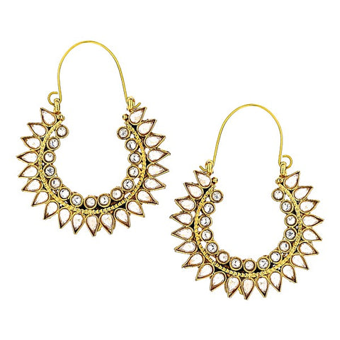 Fariya Drop Earrings in Champagne