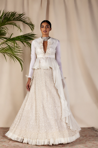 Embellished Ivory Cocktail Gown