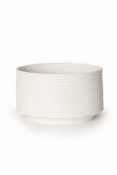 Andrew Molleur Speckled Ribbed Planter