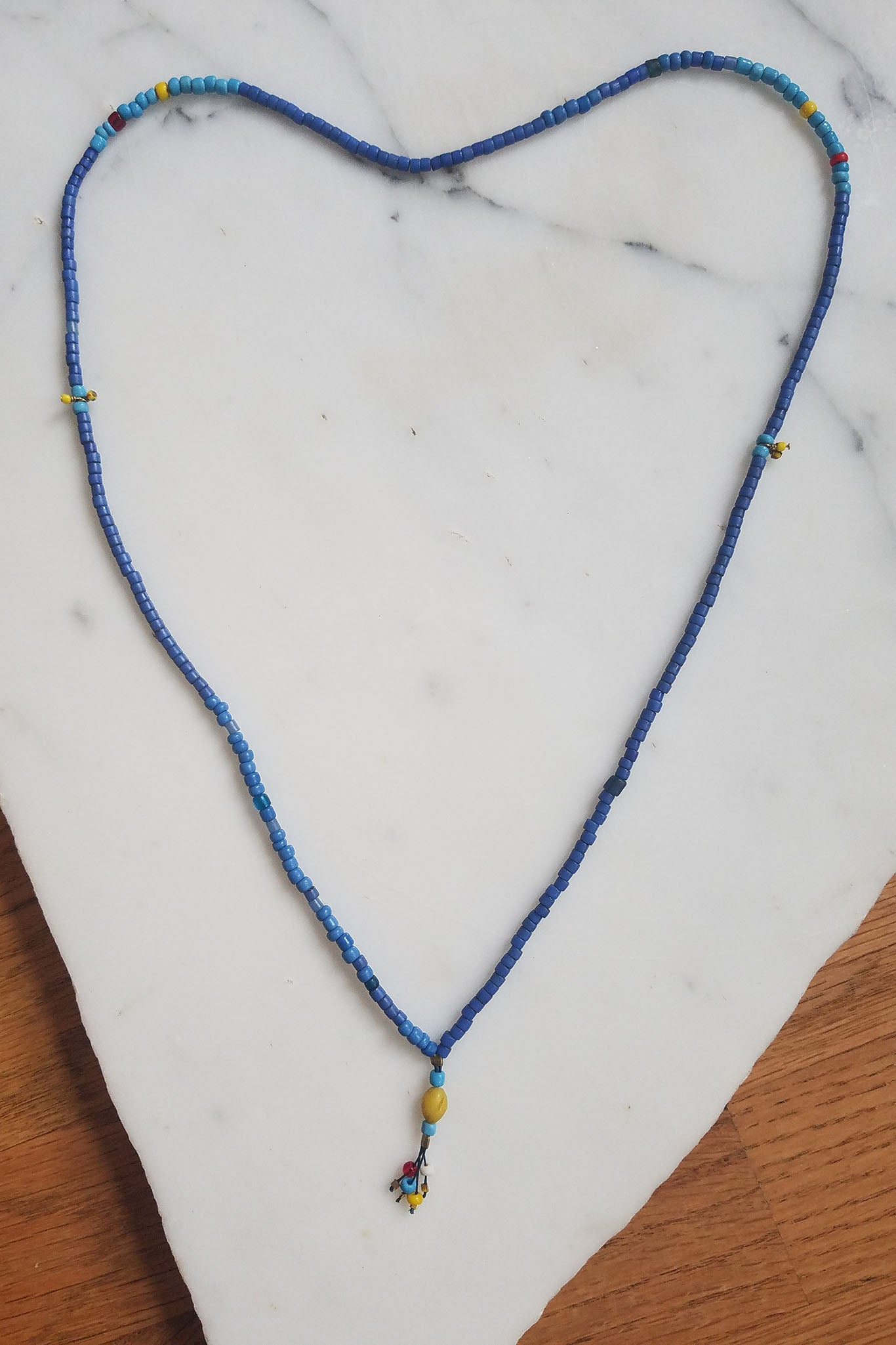 Cobamae - Blue African Bead Necklace