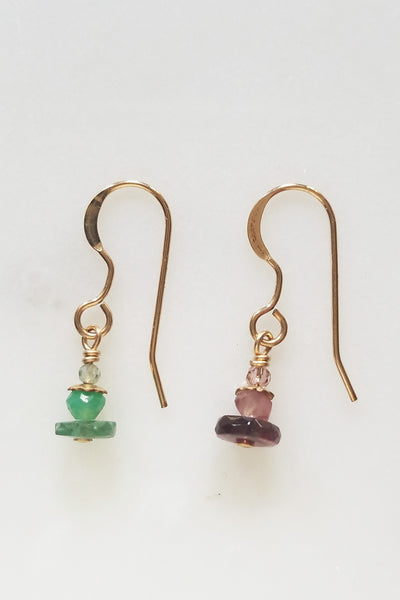 Cobamae - Purple & Green Earrings