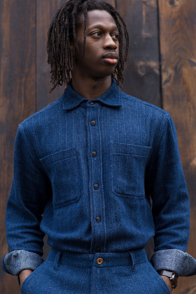 Indi Ames Overshirt - Indigo Denim