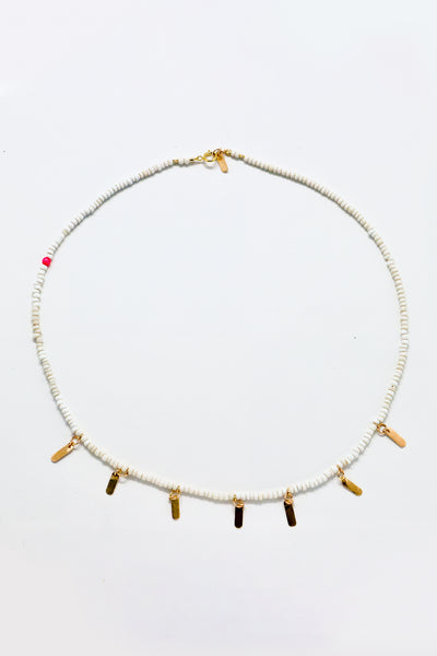 Cobamae - White and Gold Choker