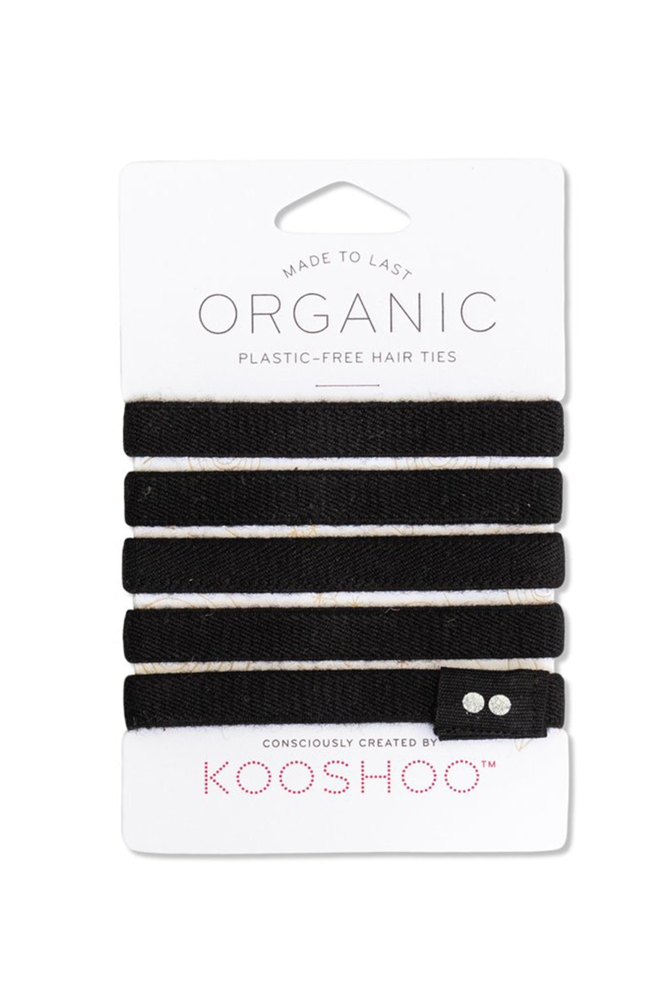 Kooshoo Organic Hair Tie - Black