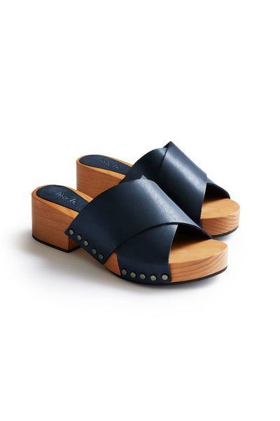lisa b. Criss Cross Sandal - Navy