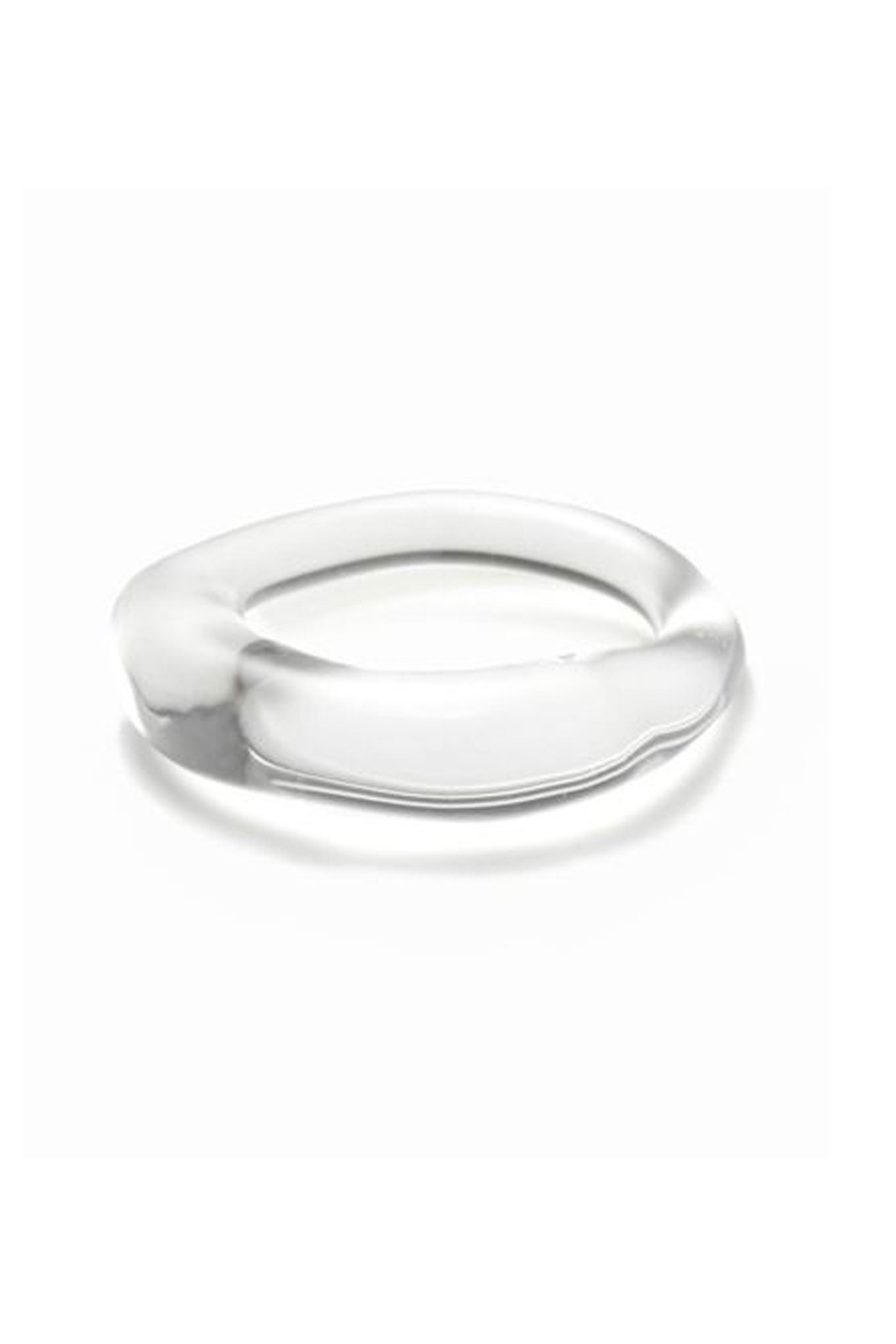 Jane D'Arensbourg Clear Glass Thin Band