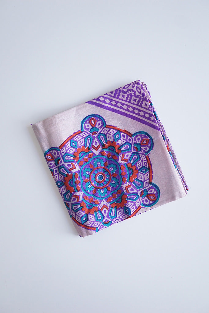 Vintage Indian Silk Scarf