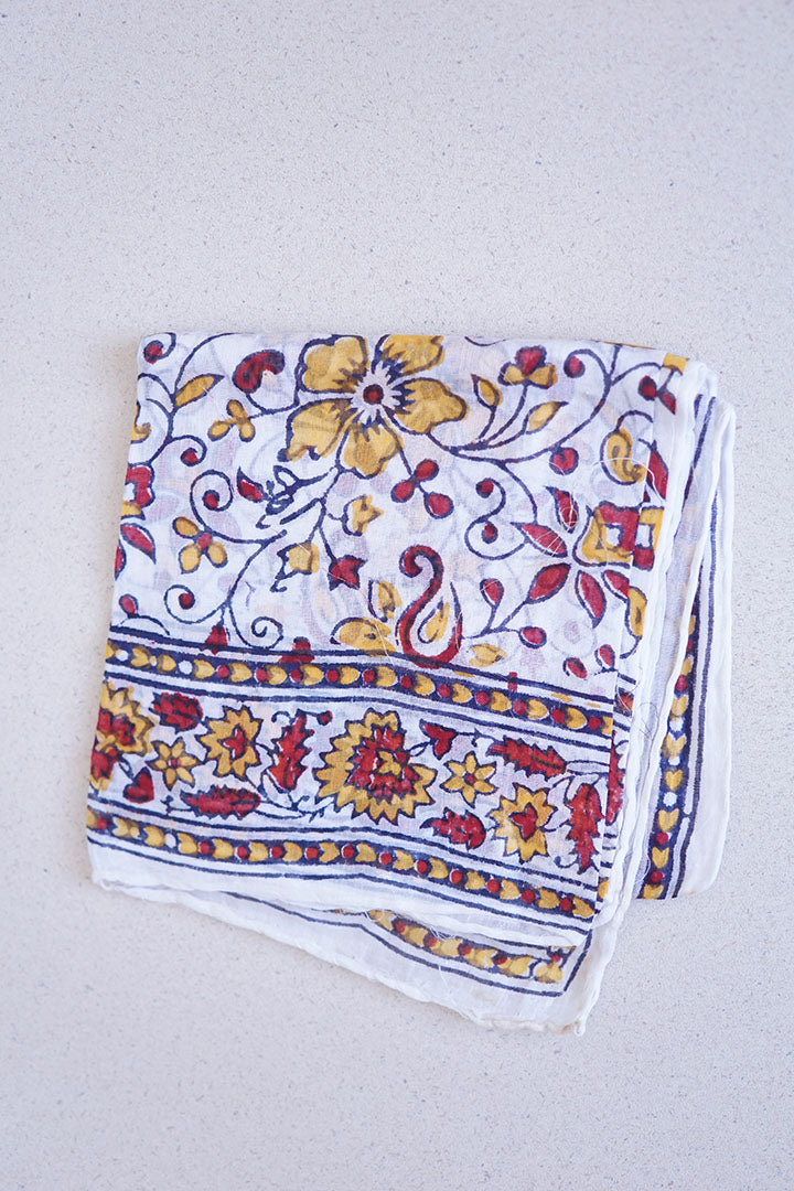 Vintage Indian Cotton Scarf
