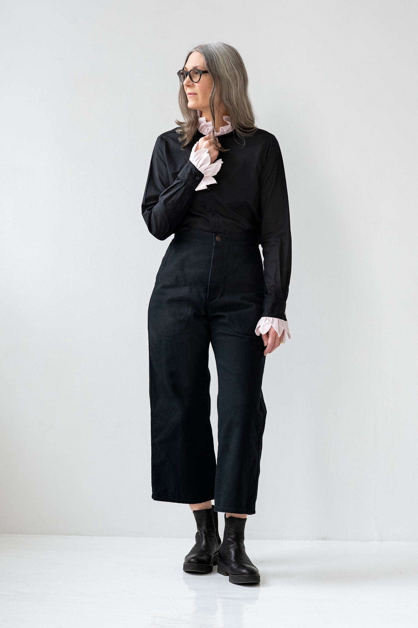 UQNATU Black Sailor Pant
