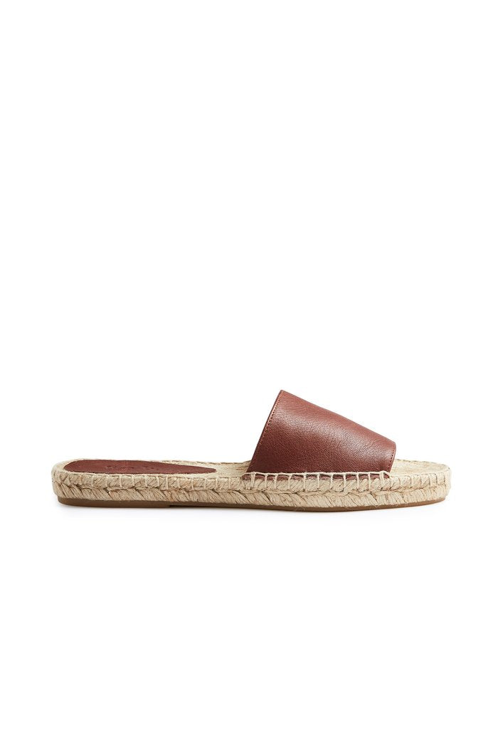 lisa b. Leather Slide Espadrilles
