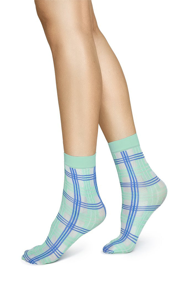 Swedish Stockings Greta Socks - Blue/Green