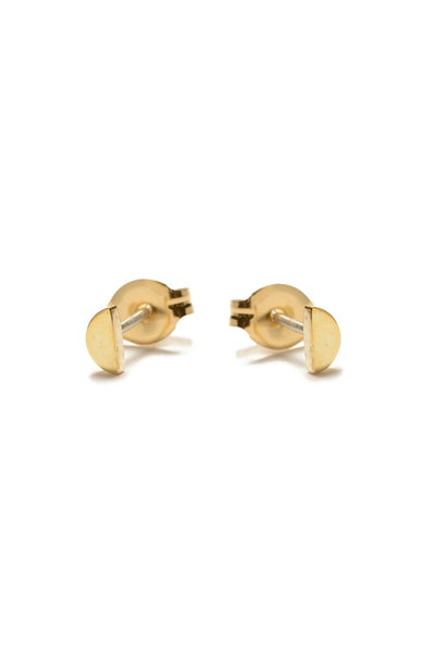 Bing Bang Half Moon Studs - Gold