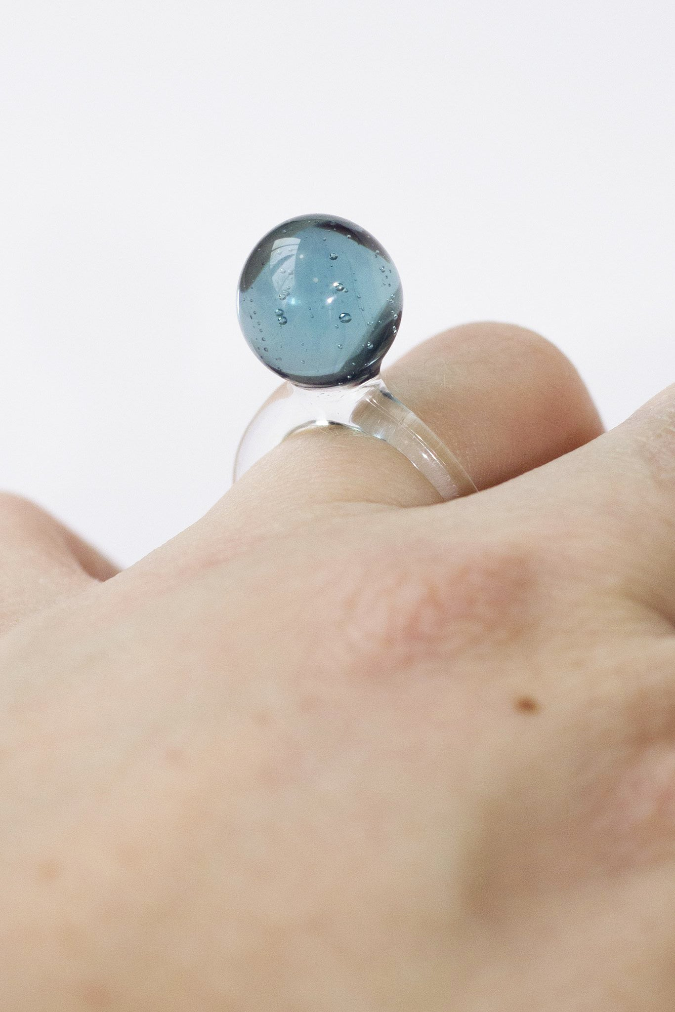 Jane D'Arensbourg Large Blue Orb Ring