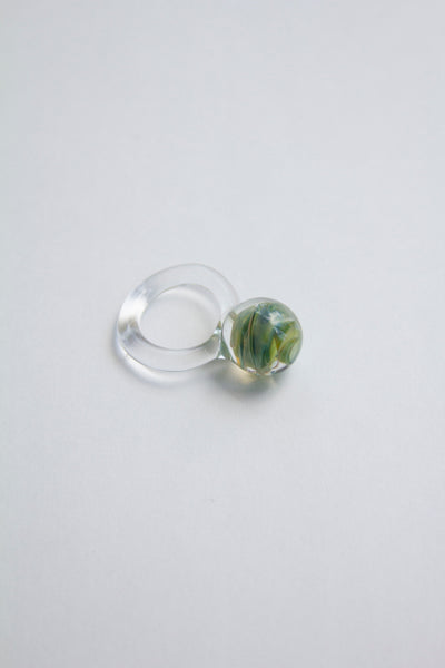Jane D'Arensbourg Large Glass Orb Ring