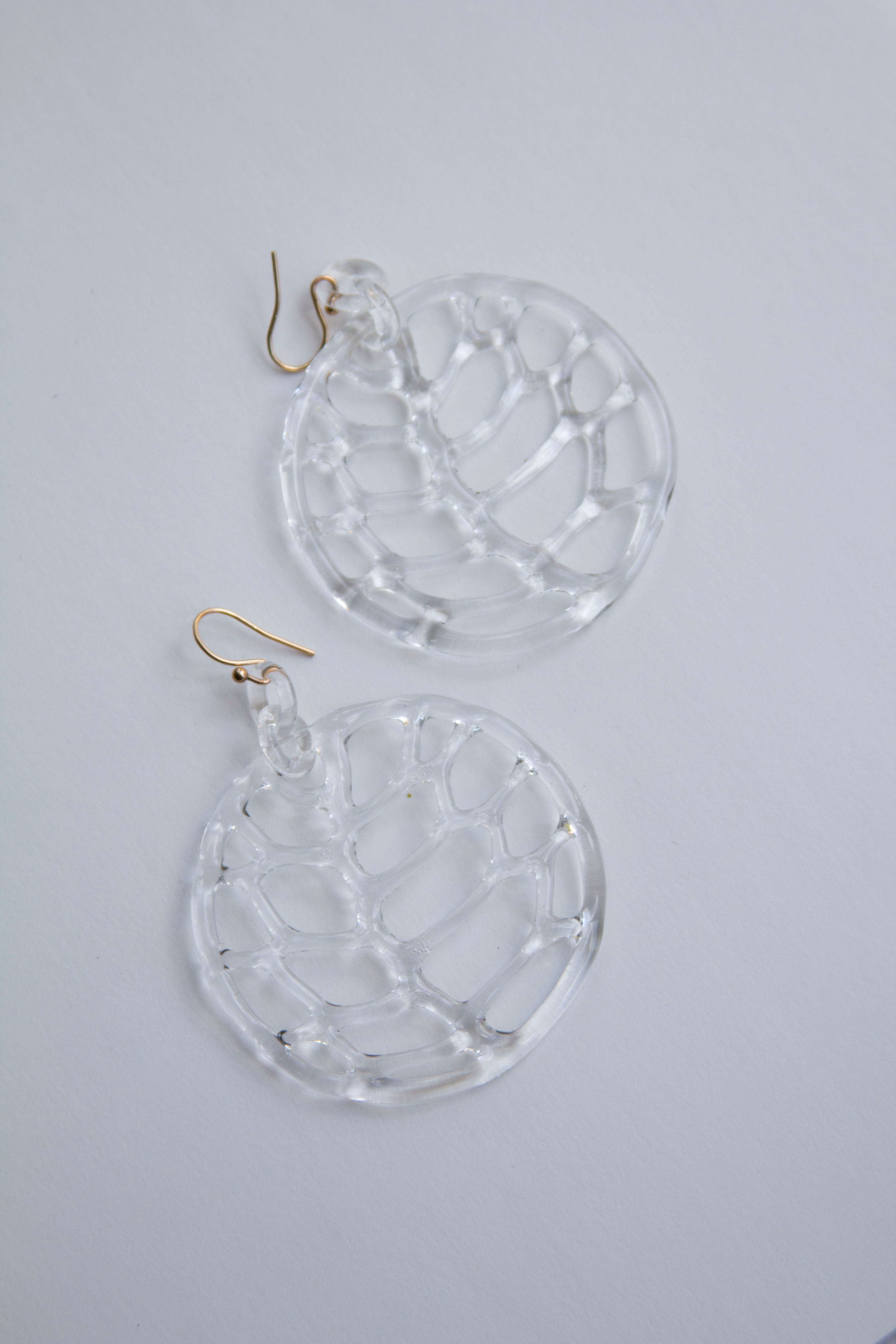 Jane D'Arensbourg Lattice Circle Hoops