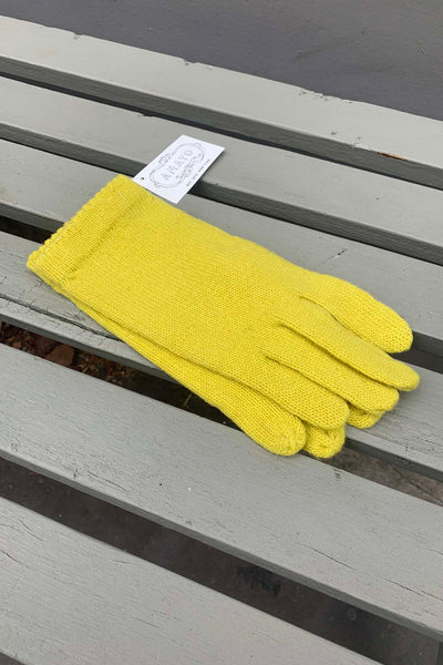Amato Classic Knit Glove - Yellow