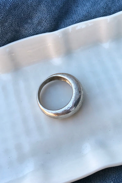 Midcentury Scandinavian Domed Ring