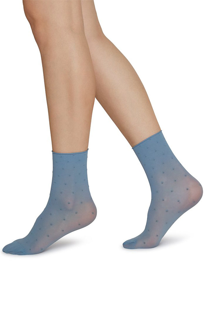 Swedish Stockings Judith Socks - Blue/Ivory