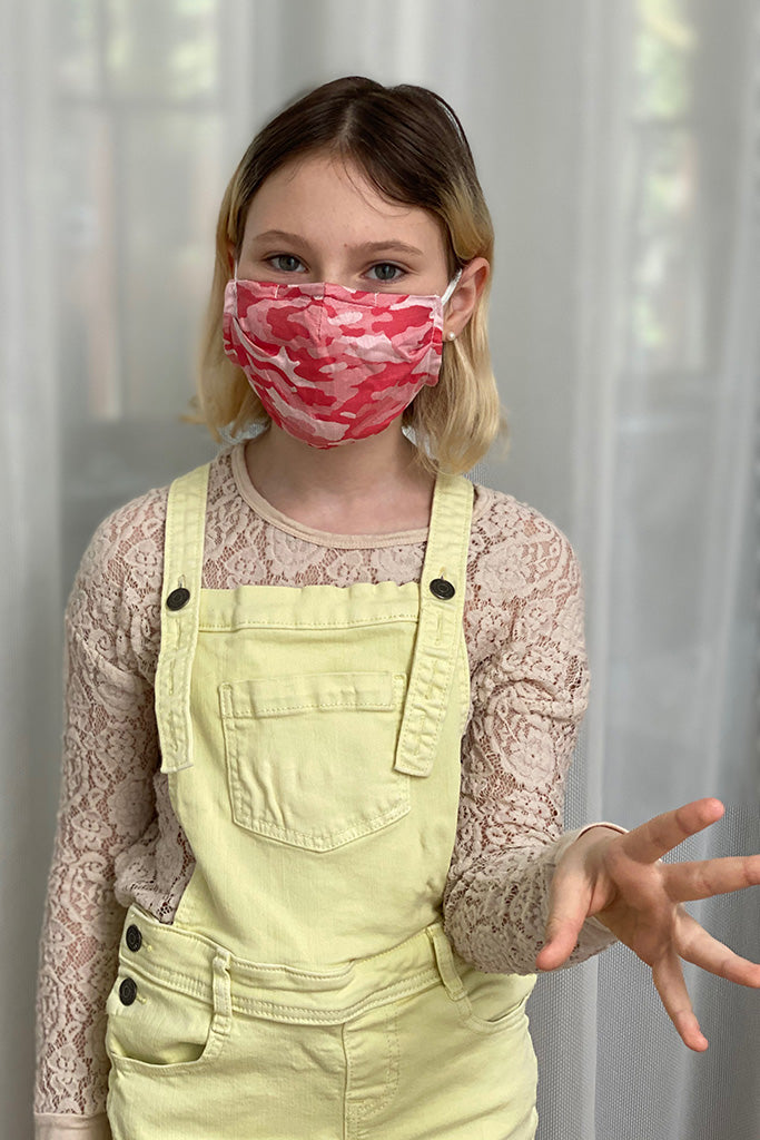 Adult Anti-Microbial Masks - Pink Camo