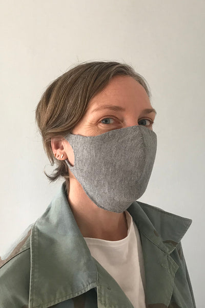 SOCIAL DISTANCING MASK - Light Grey