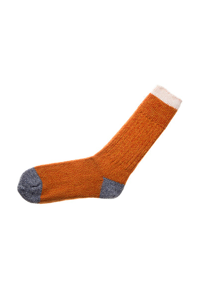Pata Paca Peru Socks - Melange Orange