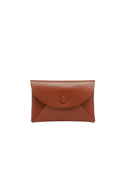 OAD Calf Envelope Card Case - Sienna