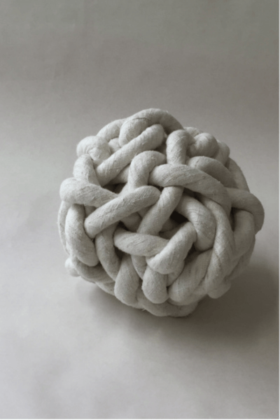 Bartleby Objects Silk Knot Pillow