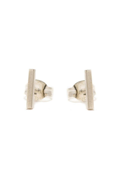 Bing Bang Tiny Bar Studs - Silver