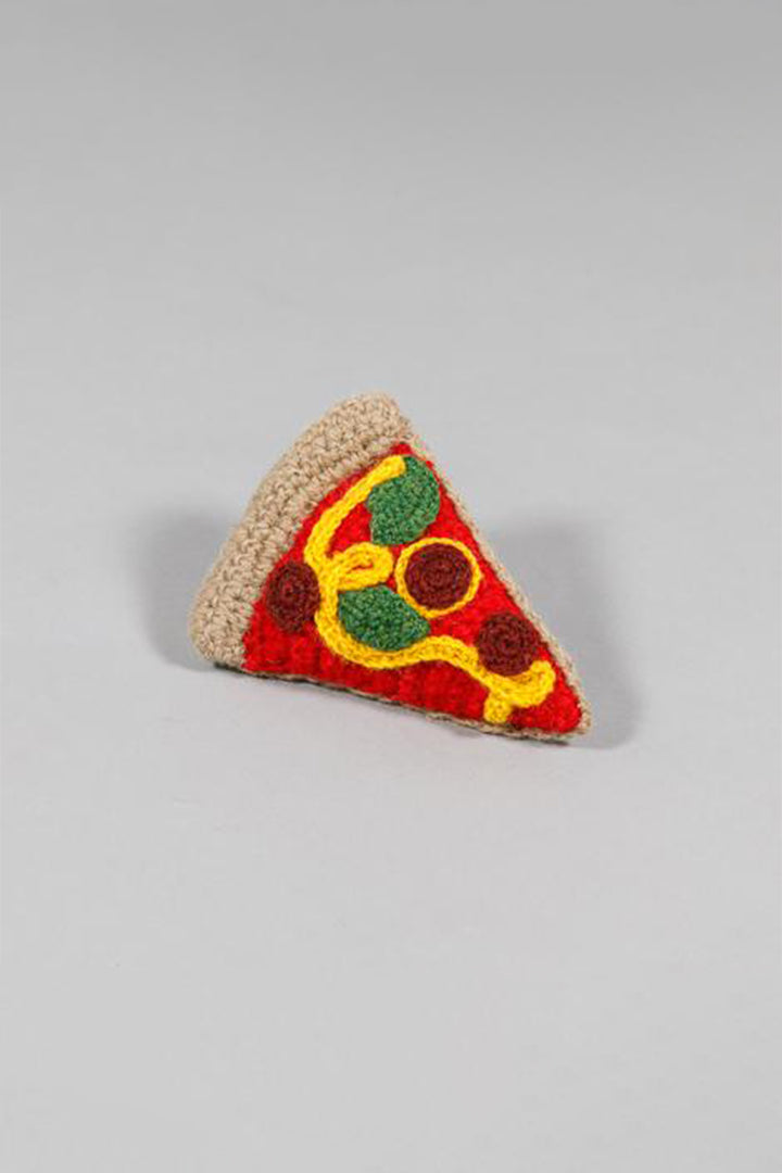 Ware of the Dog Hand Knit Pizza