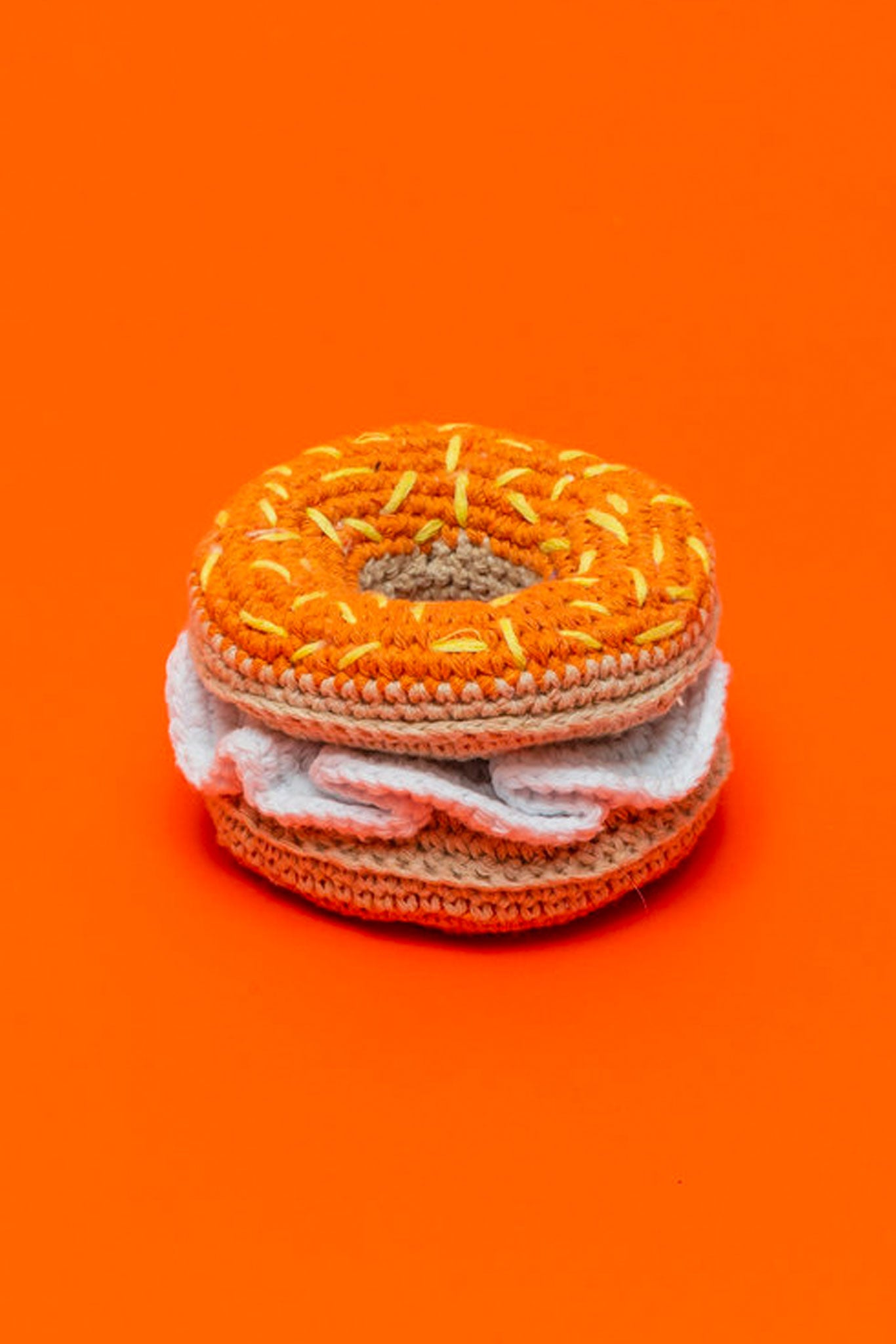 Ware of the Dog Crochet Bagel