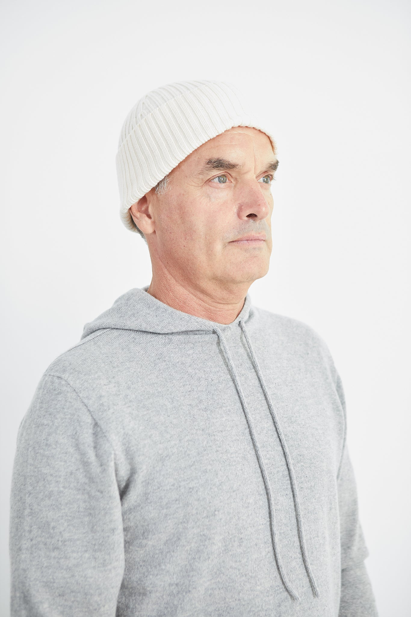 Atlantic Ribbed Merino Ivory Beanie