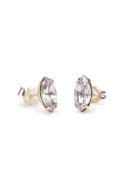 Bing Bang Tiny Marquis Studs - Clear