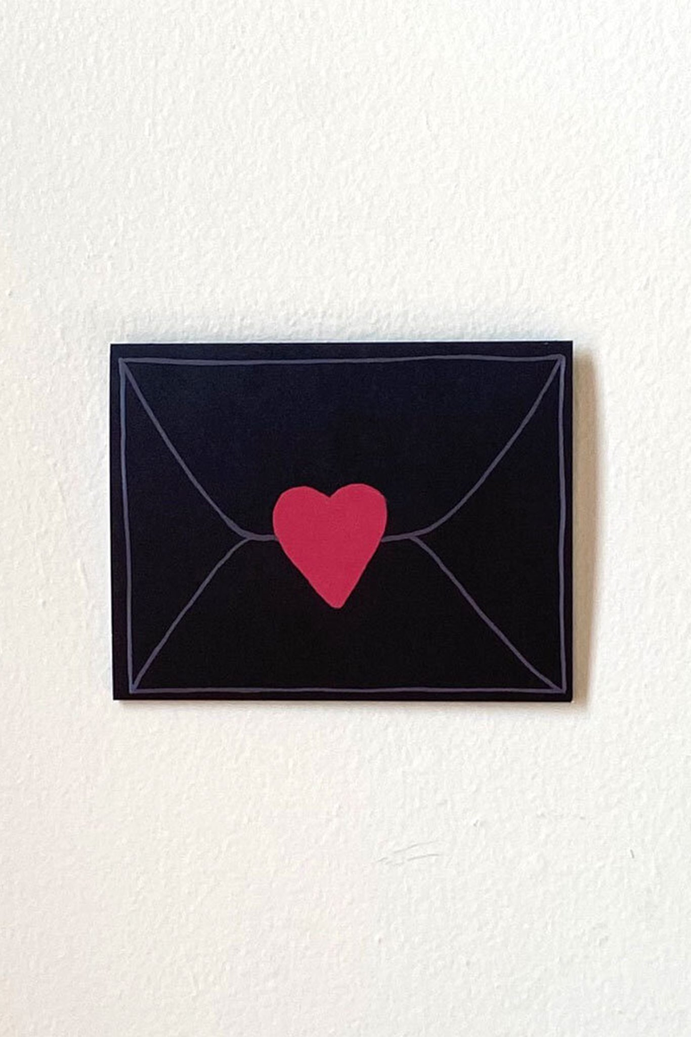 Llubav Love Mail Notecard - Black
