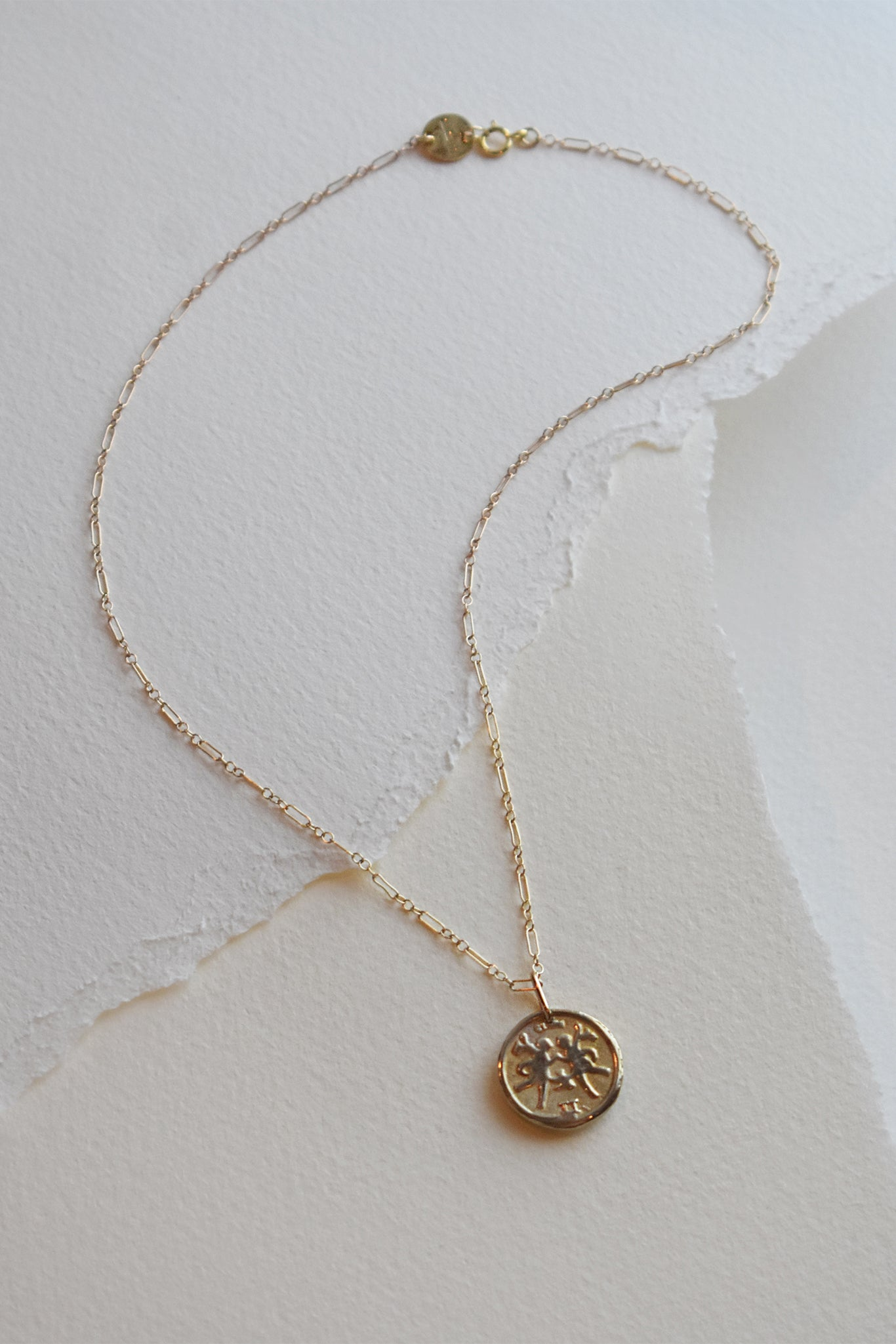 mmddyyyy Zodiac Coin Charm with Chain