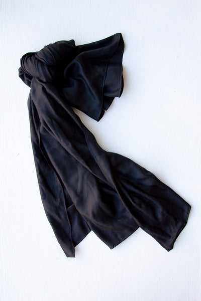 Frances Silk Scarf - Black
