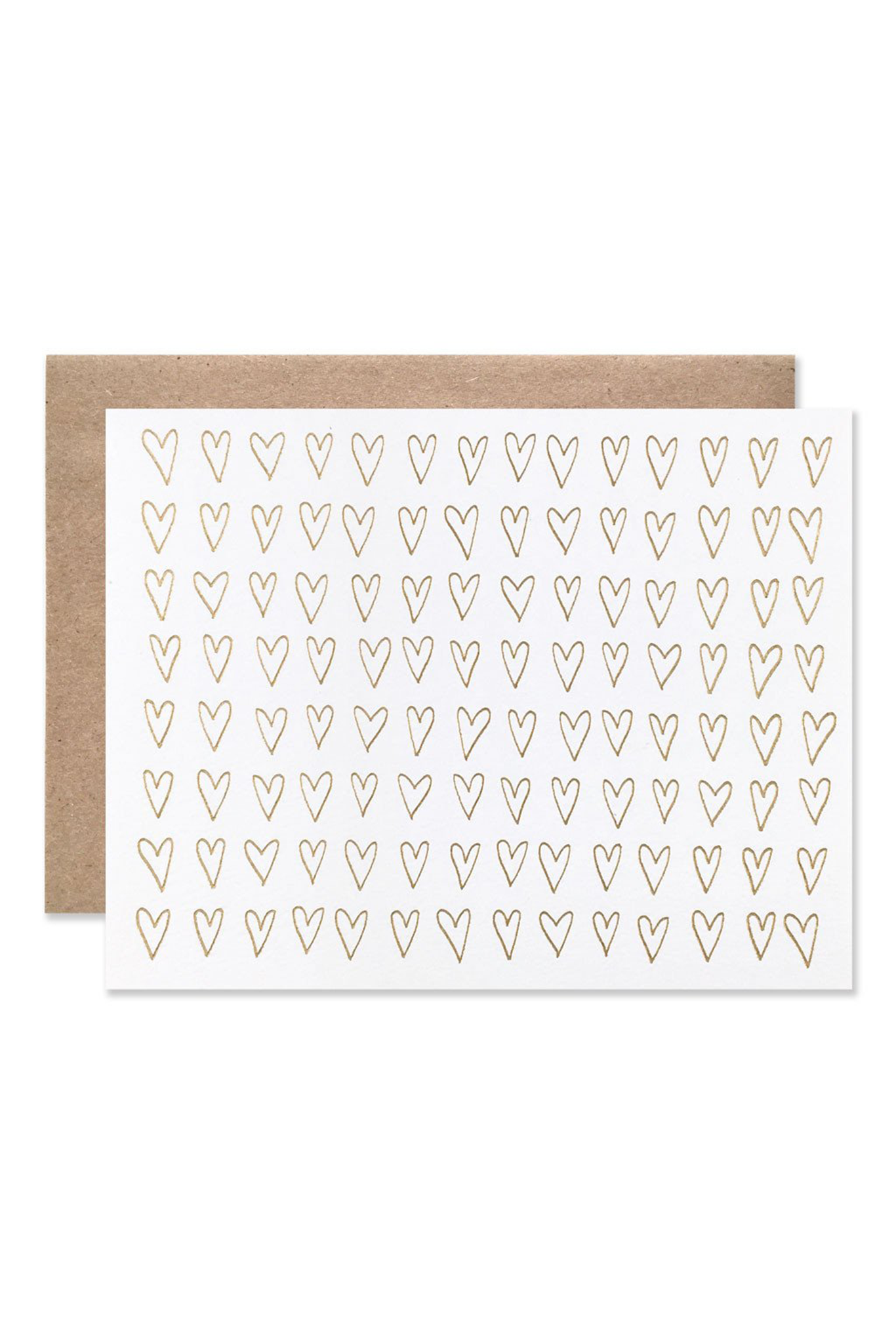 Hartland Brooklyn Foil Hearts Card