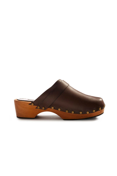 lisa b. Low Heel Leather Clogs