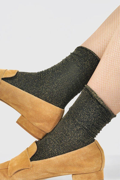 Swedish Stockings Lisa Socks - Black/Gold