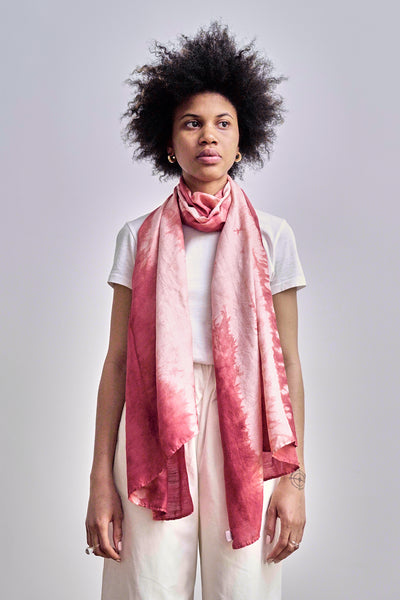 I DYE FOR U Scarf - Red Shibori