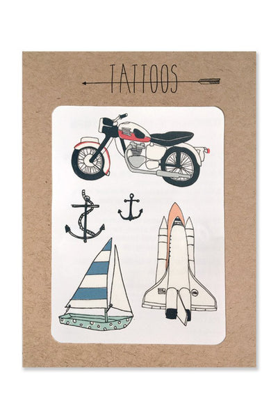 Hartland Brooklyn Moto Temp Tattoos
