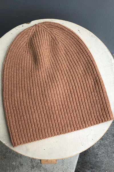 Recycled Cashmere Beanie - Camel