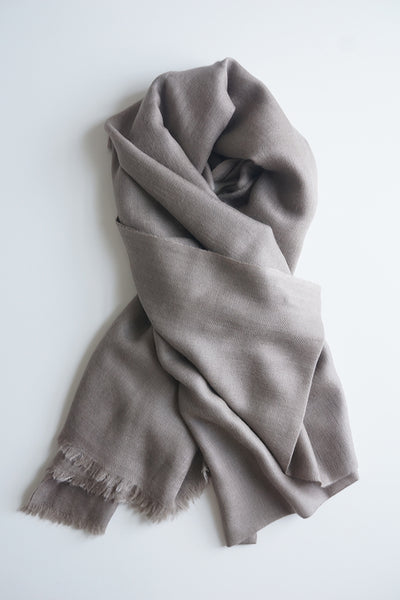 Leon Cashmere Scarf - Taupe