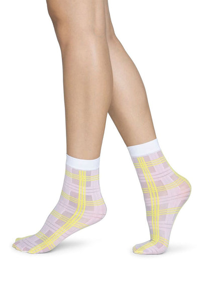 Swedish Stockings Greta Socks - Neon/Pink