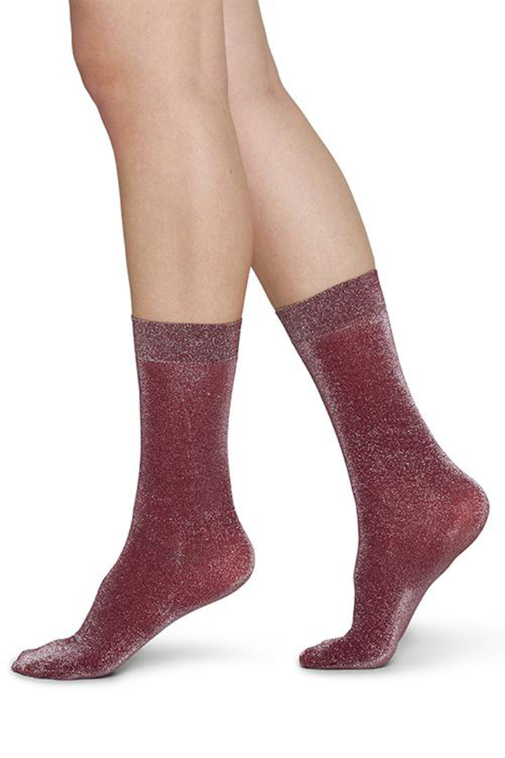 Swedish Stockings Ines Socks - Wine