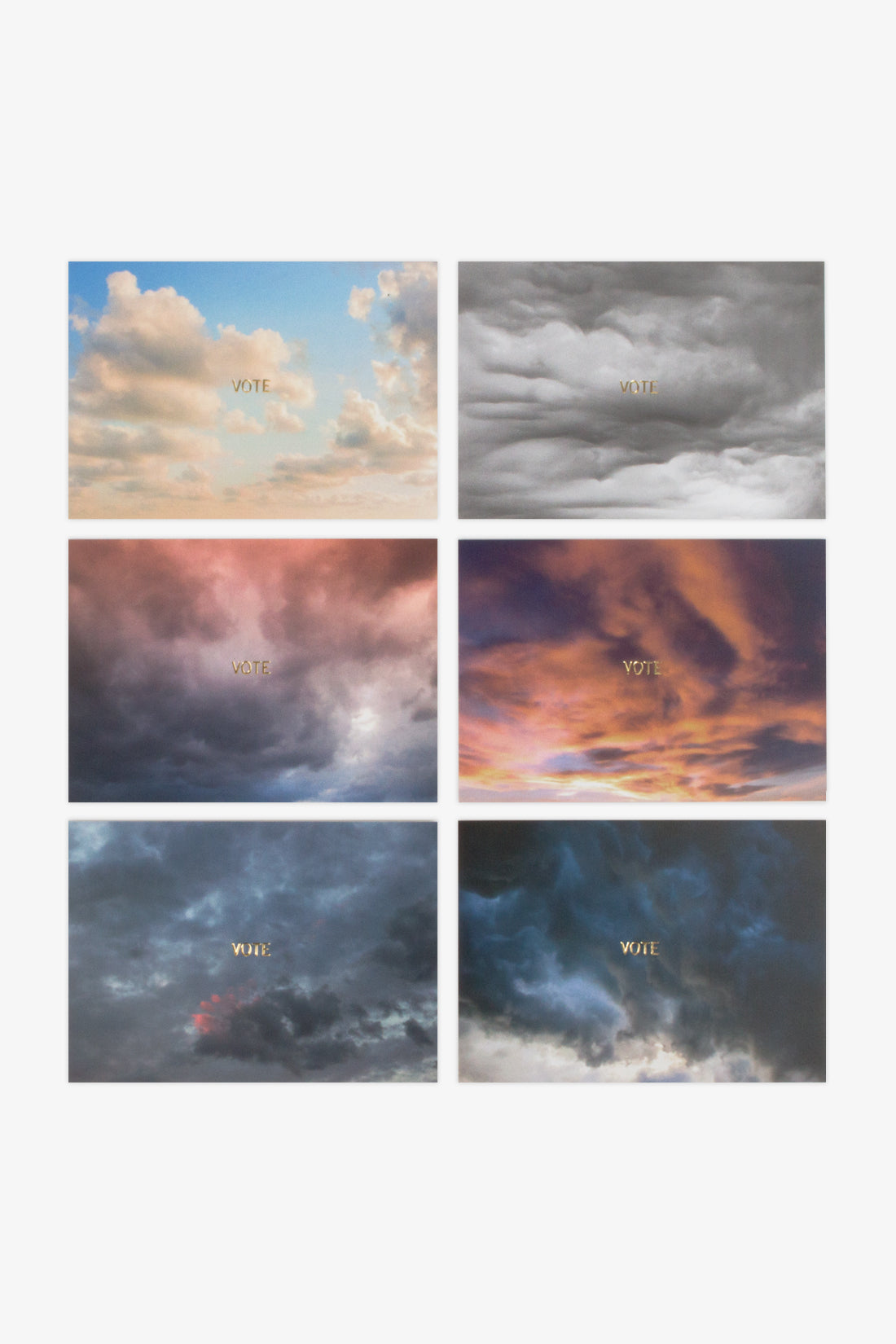 Various Products Cloud Postcards - Set of 6