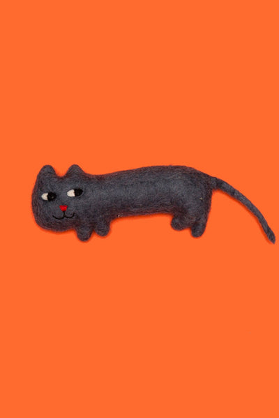 Ware of the Dog Felted Wool Cat