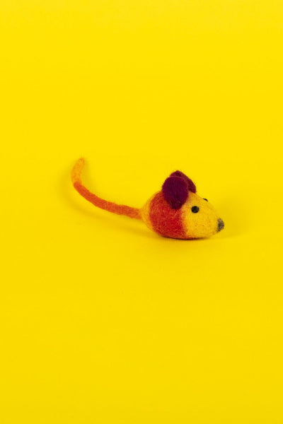 Ware of the Dog Cat Toy Felted Mouse