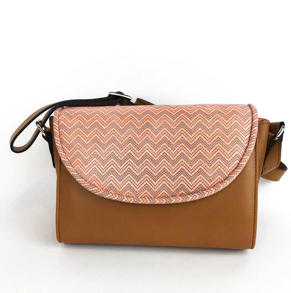 BOLSO CUERO ORANGE