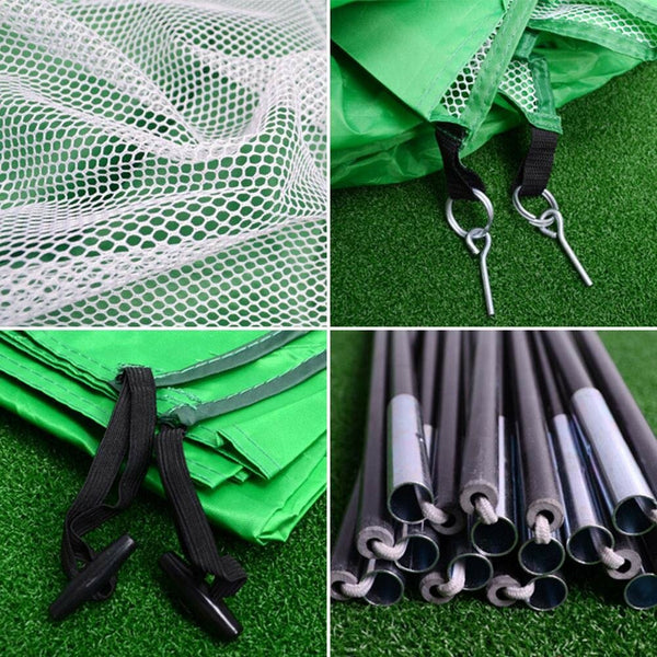 HobbyDojo™ 200x140cm Foldable Golf Hitting Cage Practice Net Trainer Training Aid Mat Driver Iron