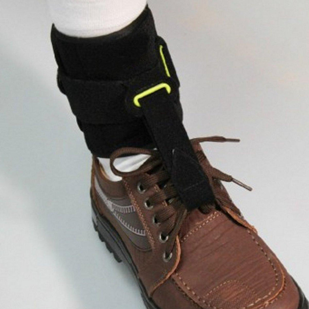 Front facing view of Foot Drop brace on ankle